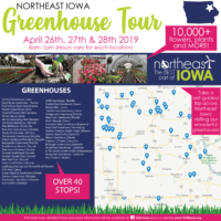 Northeast Iowa Greenhouse Tour for April 26-28th, 2019