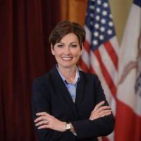 Iowa Gov Kim Reynolds and Lt Gov Adam Gregg were in our area this week