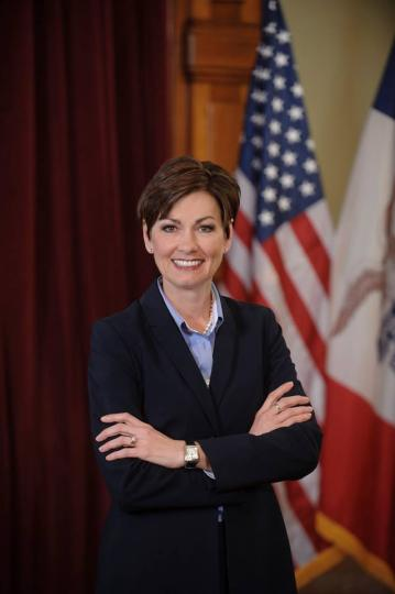 Post Photo for Iowa Gov Kim Reynolds and Lt Gov Adam Gregg in the area