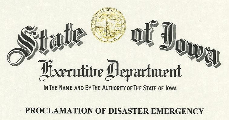 Post Photo for Iowa Gov. Reynolds issues stricter mitigation orders for much of northeast Iowa April 16, 2020
