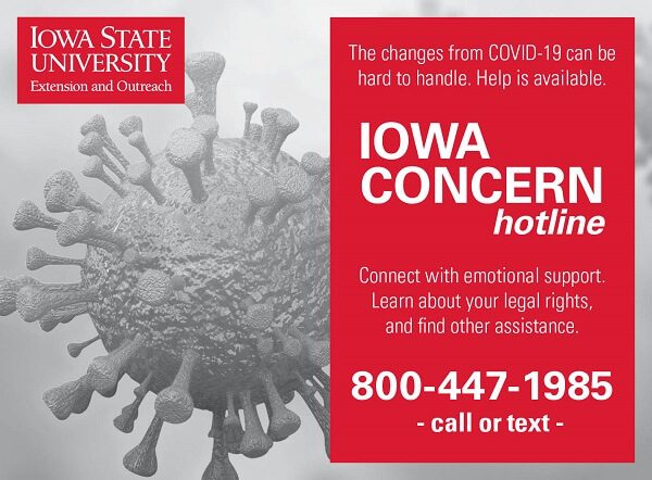 Post Photo for Call Iowa Concern for Help Coping with the Stress of COVID-19