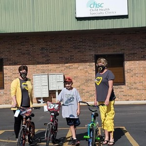 Post Photo for Boy donates 3 new bikes