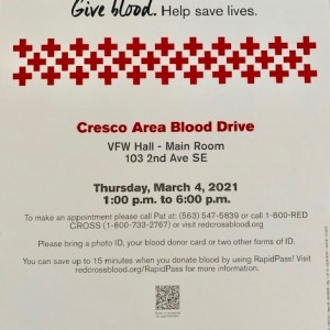 Post Photo for Cresco Red Cross Blood Drive
