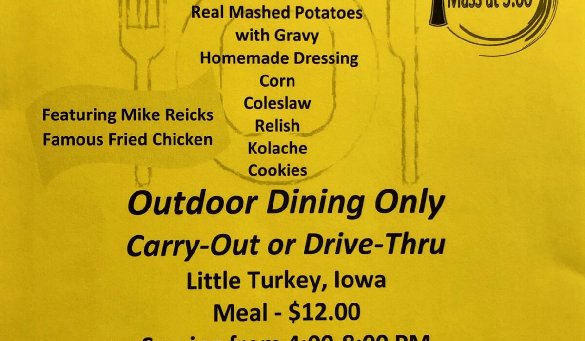 Post Photo for Assumption Parish Little Turkey Chicken Dinner